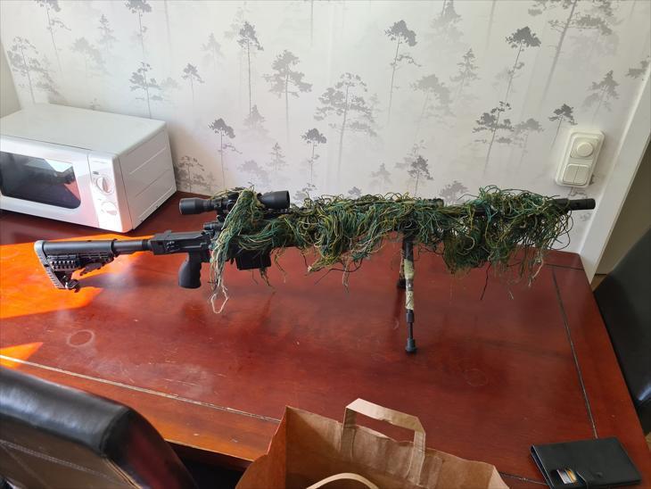 Bild för varan: Swiss Arms SAS12 Sniper + Bipod & Kikarsikte
