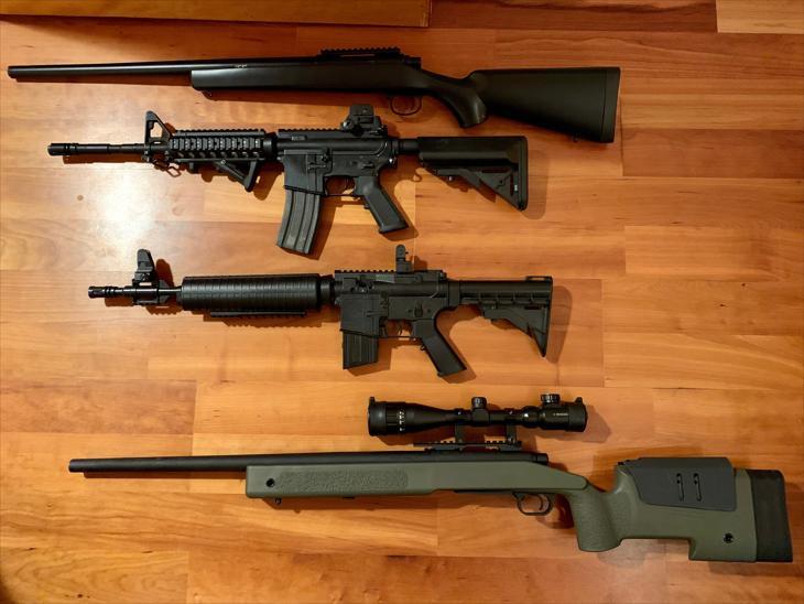 Bild för varan: M40A3 sniper, M4, CM702A sniper, M16.