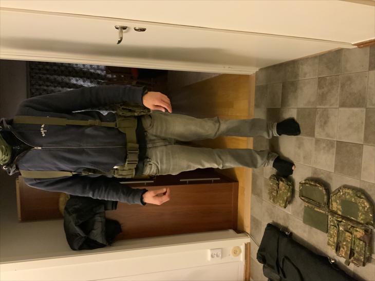 Bild för varan: Combat belt med hängslen