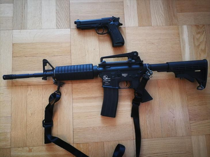 Bild för varan: Beretta M92, ARMALITE M15A4 CARBINE