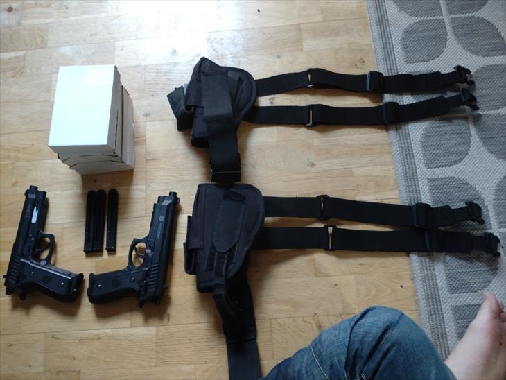 Bild för varan: Pistoler hölster magasin tre och ett halvt paket paket patroner