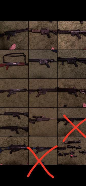 Bild för varan: Olika vapen till salu