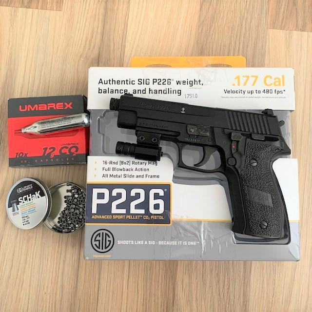 Bild för varan: Sig Sauer P226 ASP CO2 Luftpistol med lasersikte