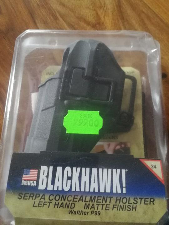 Bild för varan: Walther P99 blackhawk hölster (oöppnad)