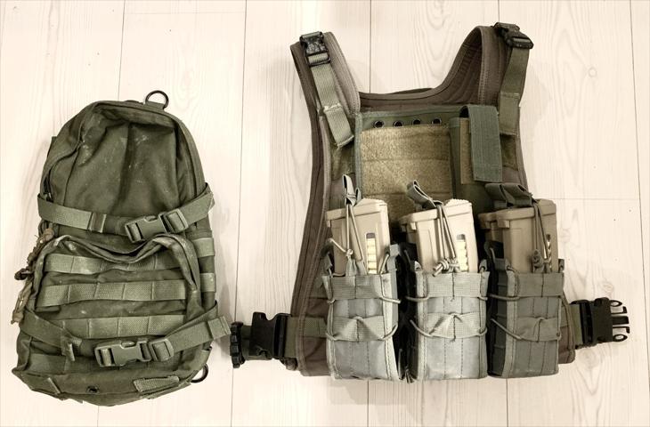 Bild för varan: SÅLD! Pantac MBSS plate carrier (RG) + backpack och pouches
