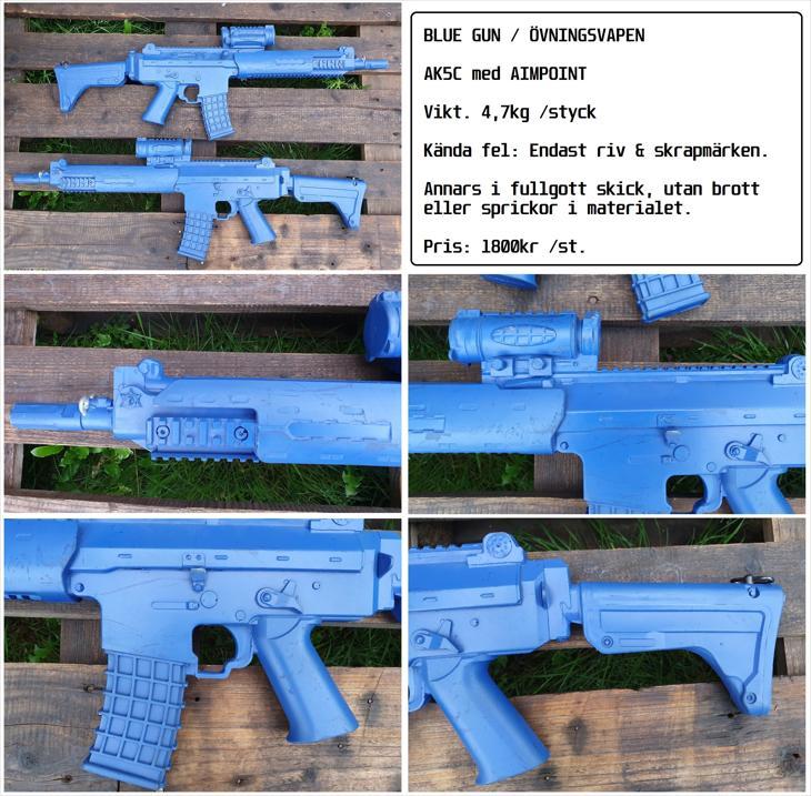 Bild för varan: AK5C med aimpoint. Blue Gun. (Övningsvapen)