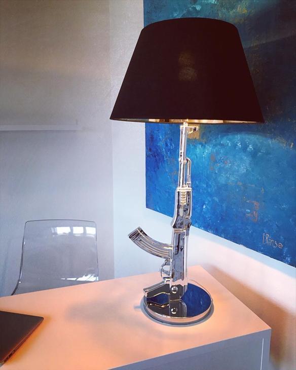 Bild för varan: Gun lamp kalshinkolv Ak47 - kromfärgad