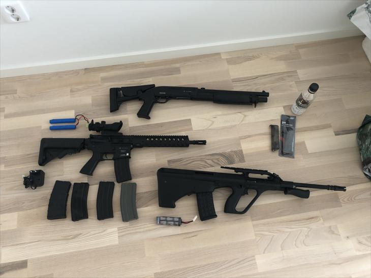 Bild för varan: Flera airsoft gevär säljes för paketpris